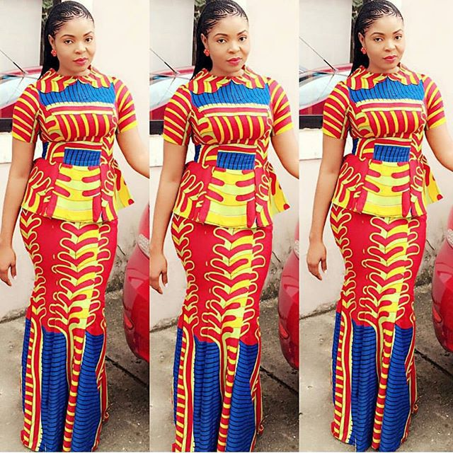 Download Latest Ankara Skirt And Blouse Style On Mobile