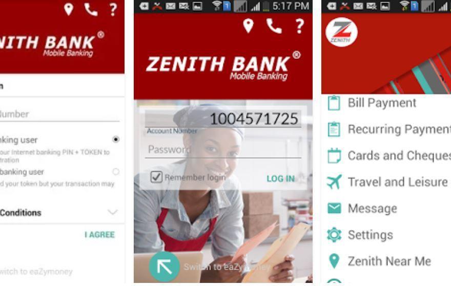 Zenith Bank Ghana Internet Banking App