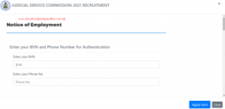 Rivers State Judicial Service Commission Recruitment 2021