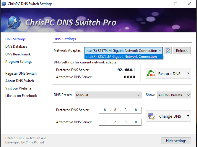 ChrisPC DNS Switch Pro Serial Number