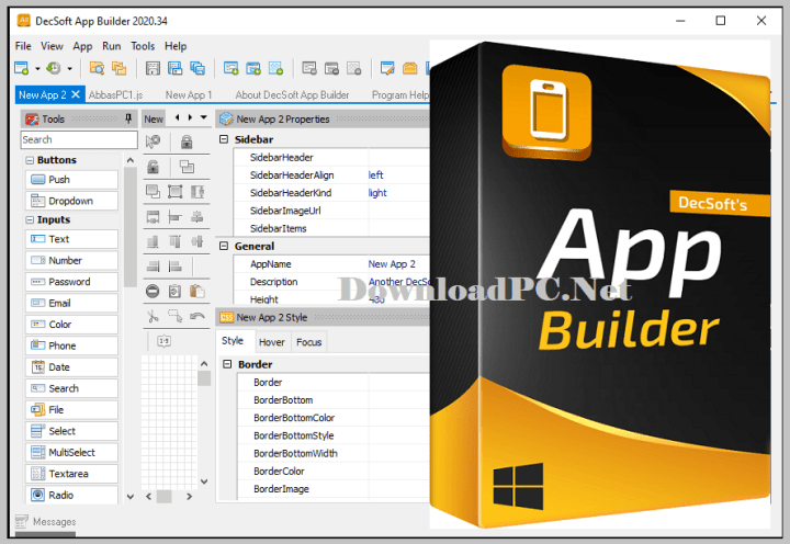 DecSoft App Builder Free Download for Windows