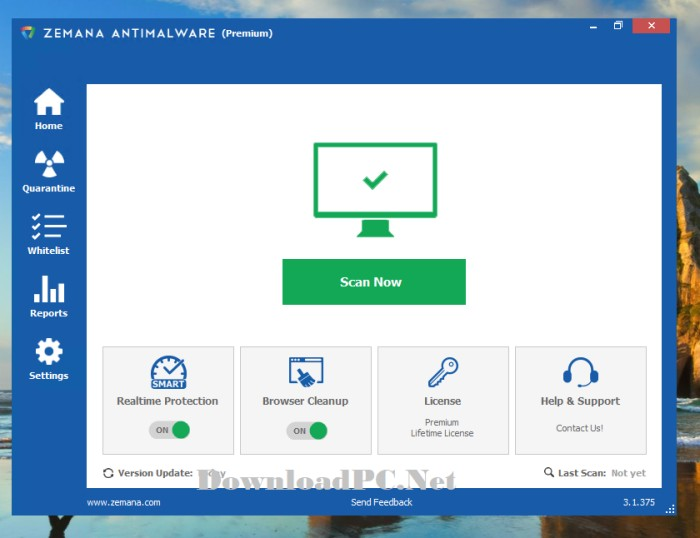 Zemana AntiMalware Premium Crack Full Version Interface