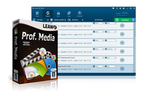 Leawo Prof. Media Full Version Interface