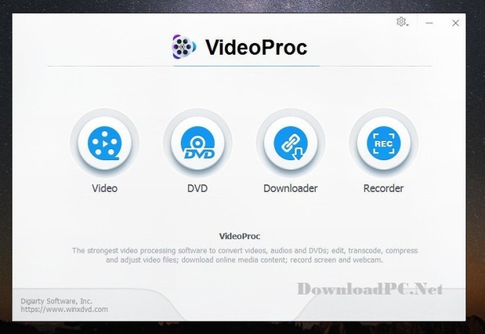 VideoProc Full Version Cracked Download Interface