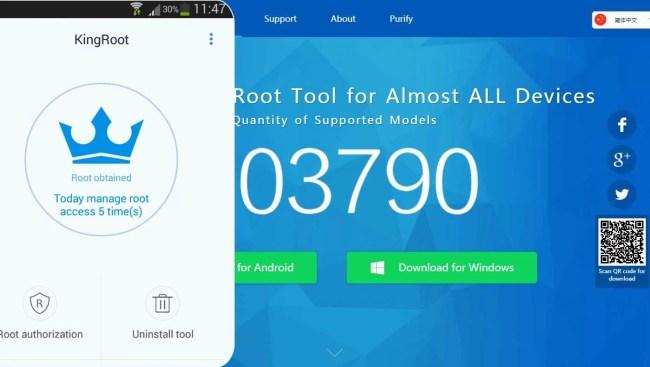 Kingroot on Android Using Kingroot HomePage