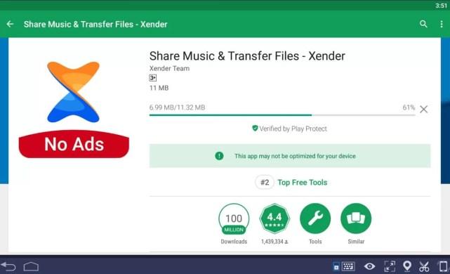 Xender for Mac using Bluestacks