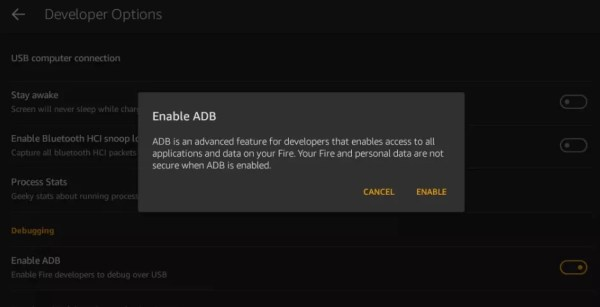 Enable ADB--Google Play Store on Kindle Fire