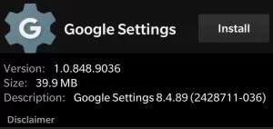 Install Google Play Service apk