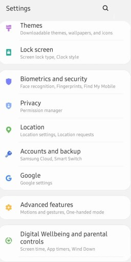 Select Accounts and backup to Sign Out of Google Play Store