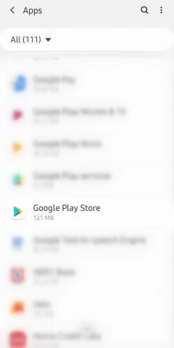 Select Google Play Store