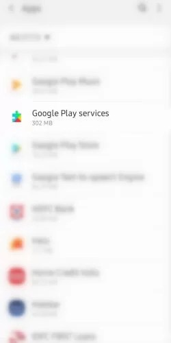 Tap on Google Play Services