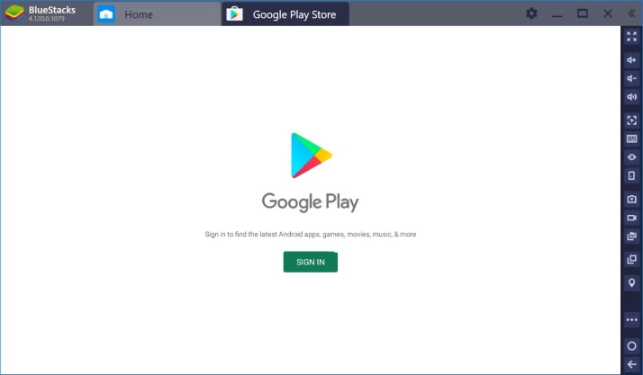 Sign In on Play Store