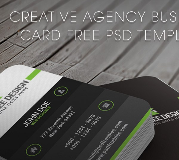 HD Decor Images » 20  Free Business Card Templates PSD Download   Download PSD Creative Agency Business Card Free PSD Template