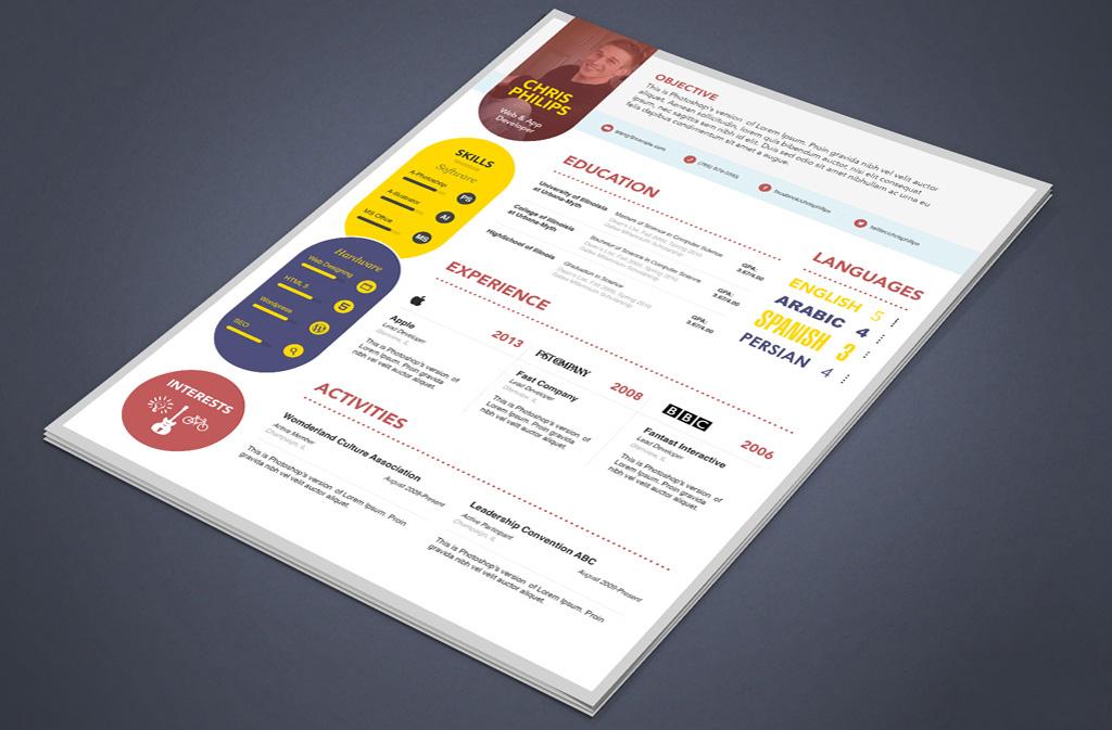 desigenr resume template creative web designer developer resume