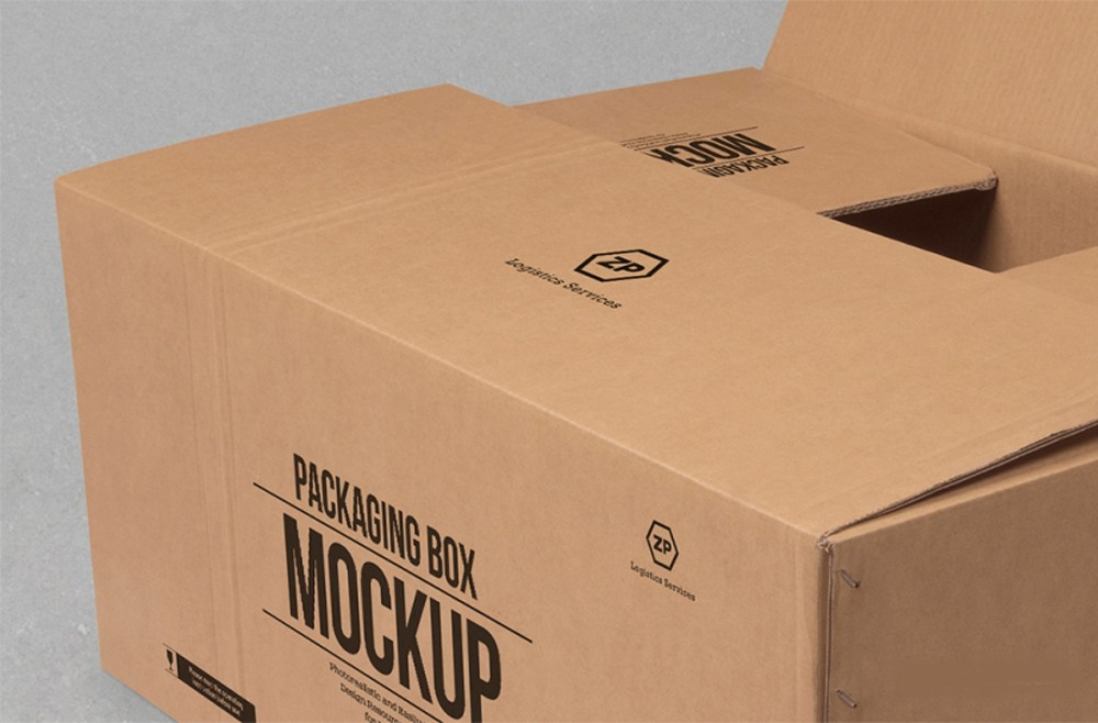 Download Cardboard Box Mockup Free PSD - Download PSD