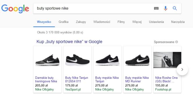 reklama google PLA