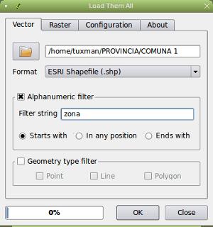 Alphanumeric filter
