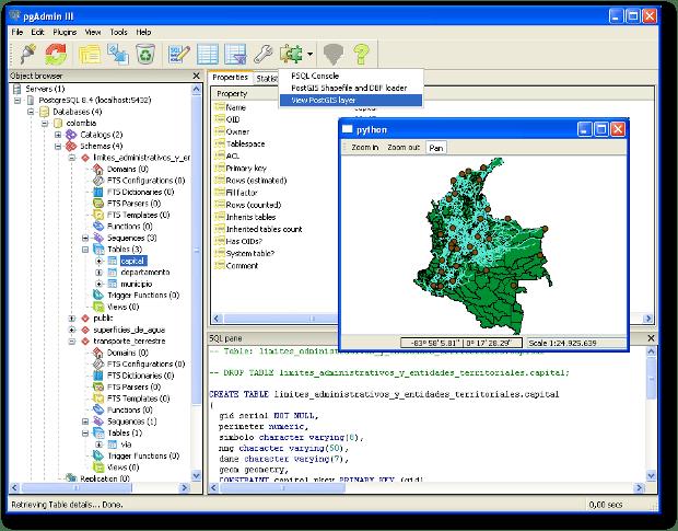 PostGIS Viewer for pgAdmin3 (Windows)