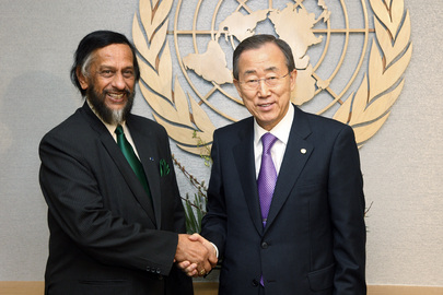 Rajendra K. Pachauri och Ban Ki-moon