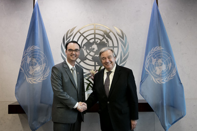 Secretary-General Meets Foreign Secretary of Philippines