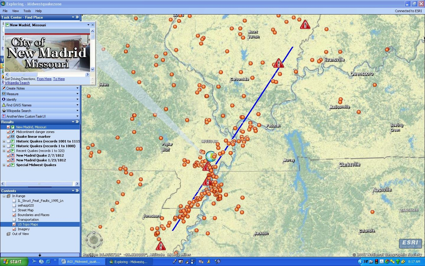 Midwest Earthquake Fault Lines