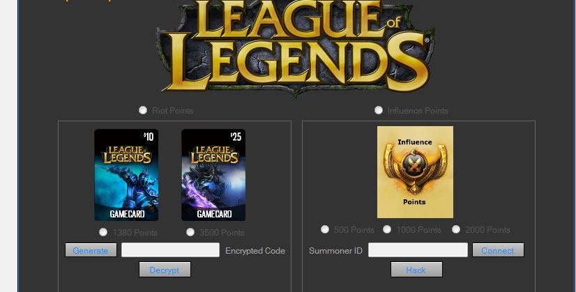 hack league of legends - Free Game Cheats