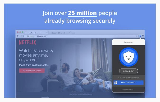 Download VPN Freebetternet for chrome