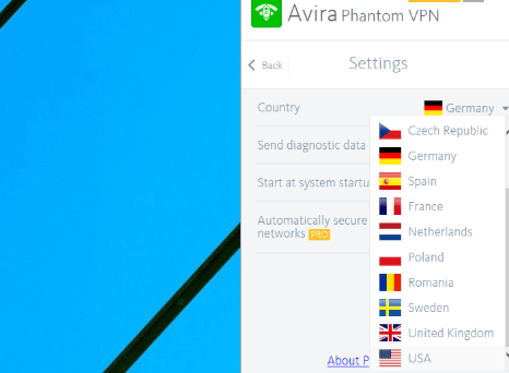Avira Phantom VPN Chrome