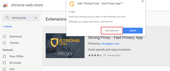 download free StrongVPN for chrome
