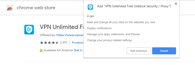 download VPN Unlimited for chrome