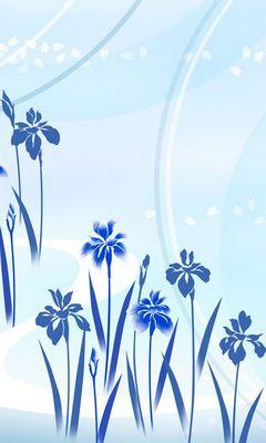 fleurs bleu clair fond d ecran