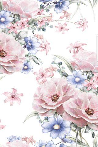 fleur vintage fond d ecran