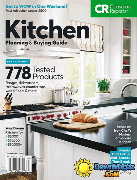 Consumer Reports Kitchen Planning Buying Guide January 2017