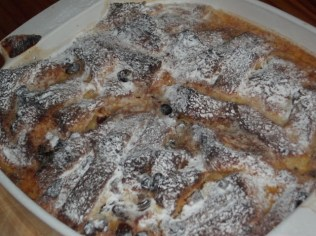 Bread and butter pudding- ready to eat