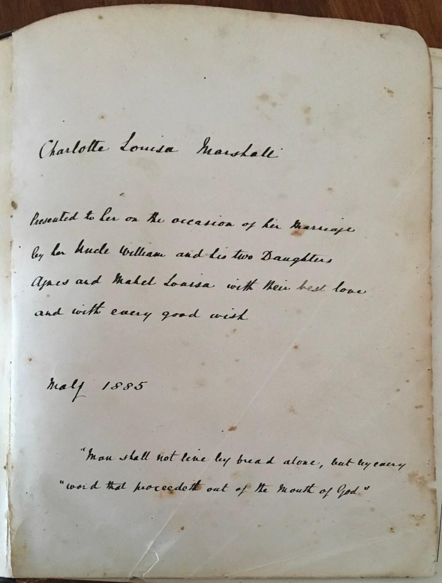 Bible Inscription