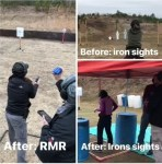 Jenny Kim showing improvement with red dot
