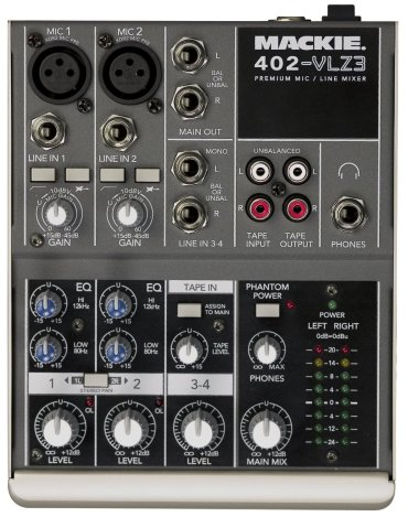 Mackie 402-VLZ3 Compact 4-Channel Audio Mixer