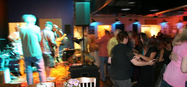 swing and blues dancing at the Blue Note Grill