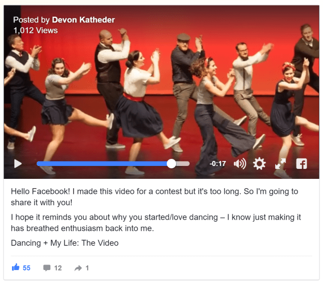 Devon Katheder Swing Dance Video
