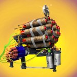 Roman Candle Weapon (Sunset Overdrive Concept Art)