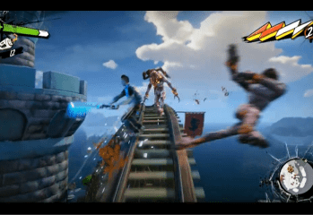 Roller Coast Skating and Shooting - Sunset Overdrive - E3 2014