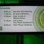 Zero Hour Official Schedule (Xbox 360)