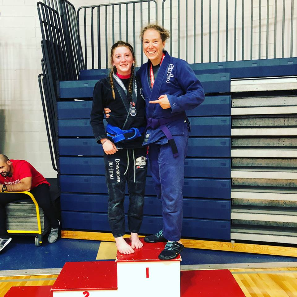 Rachel on the podium