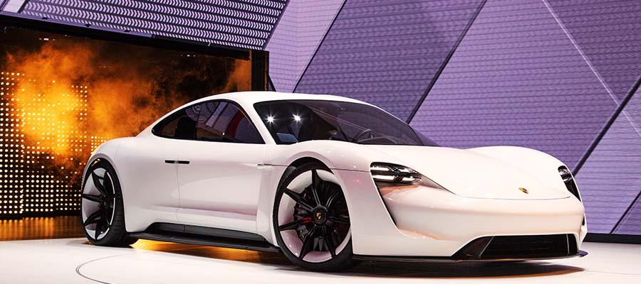 Closer Look At Porsche's Mission E Concept Car