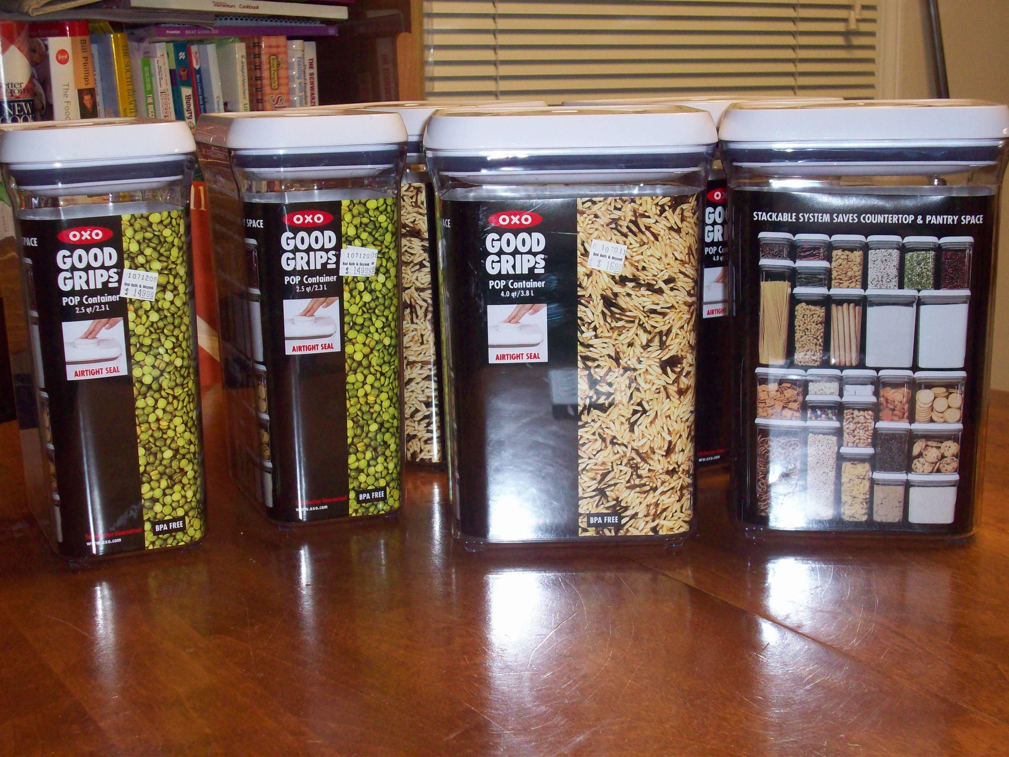 Best Kitchen Gallery: Kitchen Organization Downsized of Grain Storage Containers Home  on rachelxblog.com
