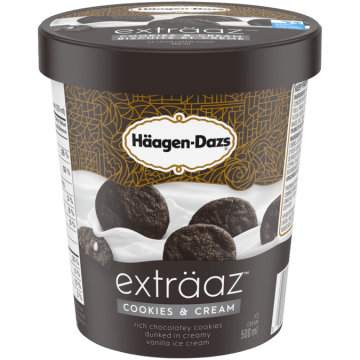 Haagen Dazs Etraaz Cookie and Cream