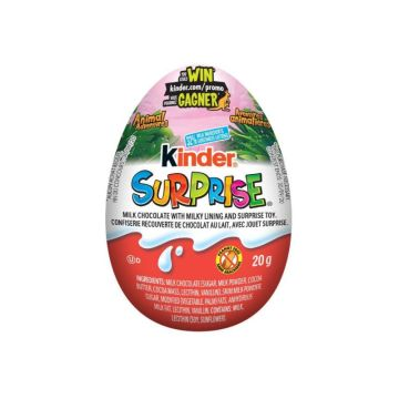 Kinder Surprise Egg 20g White Pink