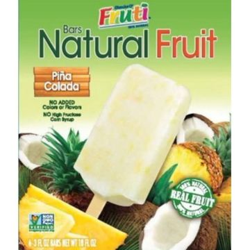 Real Fruit Bars Pina colada Ice Cream