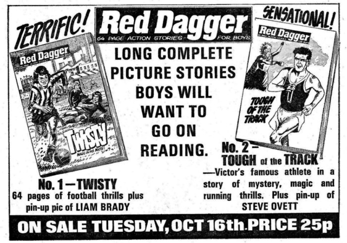 An ad promoting Red Dagger in Victor - 20th October 1979