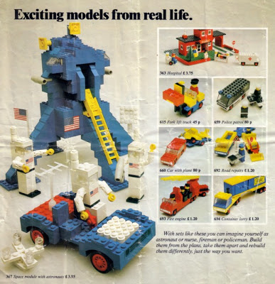 Lego's Space Module toy ad